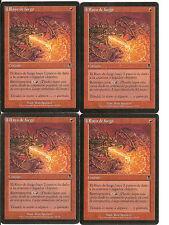 mtg Magic 4x Firebolt ( Rayo de fuego ) Spanish PLAYED ODYSSEY