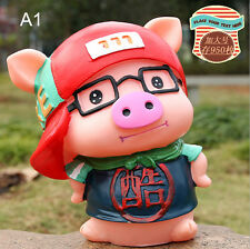 Soft Plastic Lovely Cratoon Pig Money Coin Bank Children's Piggy Bank Kids Gift