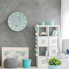 Wall Clock 23.5 in. Round Oversized  Wood Coastal Adult Decorative Quartz Analog
