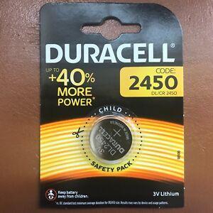 DURACELL CR2450 LITHIUM BATTERIEN 3V COIN CELL DL2450 BR2450 EXP 2027 NEU