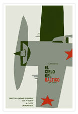 "Cuban movie Poster for Soviet film""BALTIC Sky""Cielo del BALTICO.War Plane.WWII"