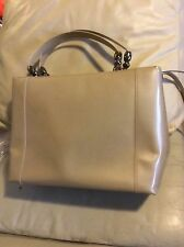 Authentic Christian dior Maris beige 2 way  hand bag purse tote pearl large
