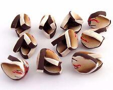 10 pcs Artisan beads, Minimalist Tulip, Golden brown tulip flower, DIY Crafts.
