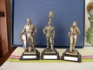 PEWTER FIGURINES WE HAVE 3 SOLDIER FIGURES FIGURES IN 1 LOT OF 3--