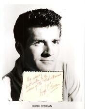 Hugh O'Brian Autograph The Life and Legend of Wyatt Earp The Shootist Never Fear