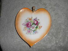 HEART SHAPED PLATE WITH FLOWERS - JAPAN