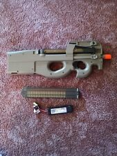400 FPS P90 LICENSED FULL AUTO ELECTRIC AEG AIRSOFT GUN RIFLE EUC no charger