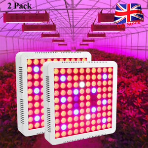 2pc 4000W LED Grow Light Full Spectrum Hydroponic Indoor Plant Flower Lamp Panel
