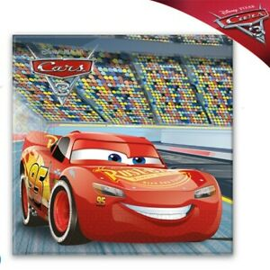 DISNEY CARS 3 NAPKINS PACK OF 20 SERVIETTES FOR CARS 3 PARTY SUPPLIES