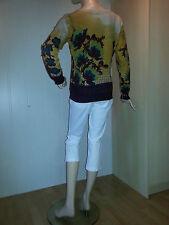 BC Heine edler Damen Feinstrick Pullover Farbe gelb-kombiniert Größe 40 NEU