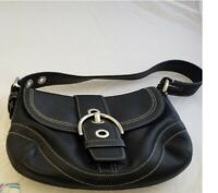 Coach Soho Leather Small Flap Hobo Shoulder Bag F10909