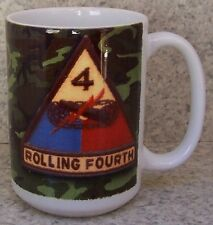 Coffee Mug Military Army 4th Armored Division New 14 ounce cup with gift box