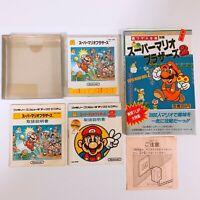 Super Mario Bros 1 2 Famicom Disk System FC NES DK Japan Game w/ Strategy Book