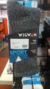 wigwam husky wool heavy weight socks, size large