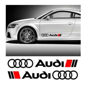 2 x Audi Aufkleber für Türen A1 A3 A4 A5 A6 A7 RS Q2 Q3 Q5 Emblem Logo