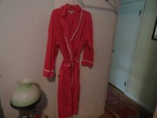 ALEXANDER DEL ROSSA LONG PINK WITH WHITE COTTON ROBE SIZE 2X EXCELLENT