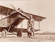"""+PC-Postcard-""""Pilot w/Dog... Front of Old Aircraft-  (B475)"""