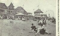 Midland Beach Staten Island New York Ferris Wheel Bathers 1910 NYC Postcard