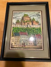 Framed Watercolor – Le Chateau Frontenac – Claudius Girard 71 Signed