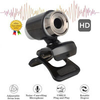 Mini HD Cmos Webcam USB 2.0 Web Video Camera for PC Desktop Laptop w/ Microphone