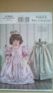 Historical Doll Clothes Uncut Vogue Doll Collection Sewing Pattern Linda Carr