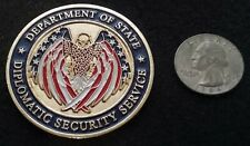RARE State Department DSS Antiterrorism ATA DoS Security Service Challenge Coin