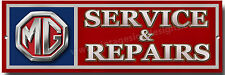 MG SERVICE & REPAIRS METAL SIGN.(MORRIS GARAGE),CLASSIC BRITISH SPORTS CARS