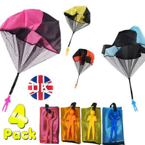 4 Pack Free Throwing Toy Parachute , Outdoor Children's Flying Toys Gift