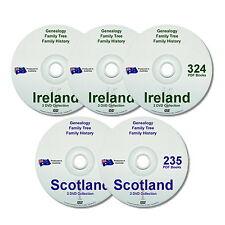 Genealogy Family History Ireland Scotland 557 Old Historic Books 5 New DVDs