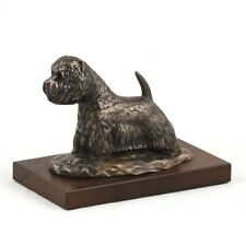 West Highland White Terrier - dog figurine on wooden base, high quality, Art Dog