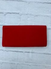 NEW Anladia Women's Clutch Purse Sling Envelope Bag Silver Chain Red