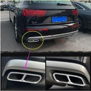 Audi Q7 Prestige Premium Plus 55 Stainless Steel Quad Exhaust Pipe Muffler Tips