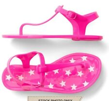 NWT GAP Kids Girls Starry T-Strap Jelly Sandals Pink Youth SZ 2