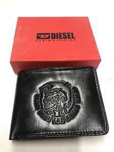 Men's Diesel Wallet Black Leather