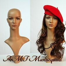 Female lifesize head display wigs hats scarves plastic mannequin head -Fd2