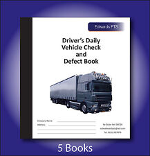 5 x Drivers Daily Vehicle Check & Defect Book-Truck - 20 Part Duplicate