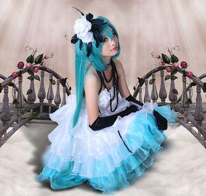Vocaloid Miku Camellia Cosplay Kostüm Kamelie Gothic lolita wig Perücke
