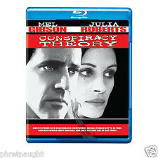 CONSPIRACY THEORY BLU-RAY - MEL GIBSON - JULIA ROBERTS - AUTHENTIC US RELEASE