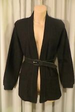 VINTAGE  80'S ~ Black Textured ~ CARDIGAN/TOP * Size S *  50% Off !!