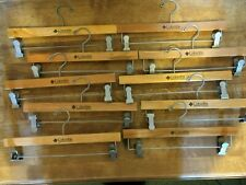 VINTAGE ~ 10 RETAIL COLUMBIA STORE WOODEN COAT AND PANT HANGERS