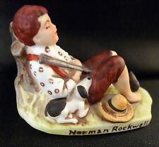 1979 Norman Rockwell Miniature 1979 Lazybones Boy Dog Grossman Nr208