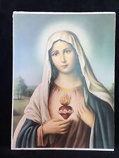 Heilige Bild Maria Ikonen Bilderrahmen Antik 30x40 Madonnen bild Mutter Gottes