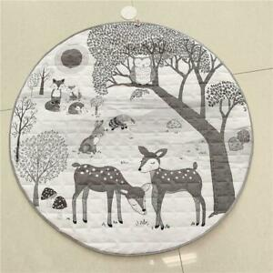 Baby/Infant play Mat round - Forest Animal