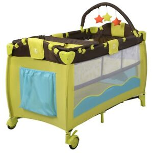 Foldable Baby Playpen Travel Crib Infant Playard Portable Newborn Bed Bassinet