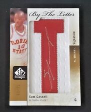 2011-12 SP AUTHENTIC SAM CASSELL AUTO BY THE LETTER PATCH #03/25 FSU AUTOGRAPH