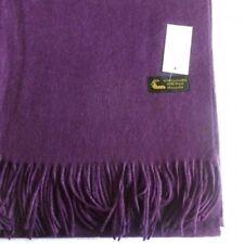 Étole laine cachemire 40% violette - châle plaid foulard