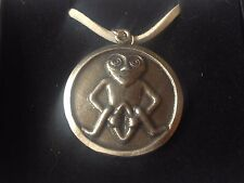 "Sheela Na Gig DR96  Made From English Pewter On 18"" White Cord Necklace"