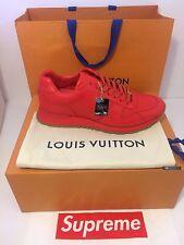 SUPREME X LOUIS VUITTON NIB Run Away Shoes RED 100% AUTHENTIC Receipt 9.5 US 8UK