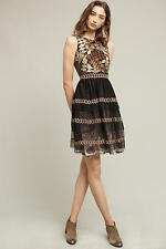 NWT Anthropologie Embroidered Vigne Dress by Varun Bahl Size: Large
