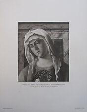 1914 MADONNENKOPF CIMA DA CONEGLIANO alter Druck antique print Kunstdruck